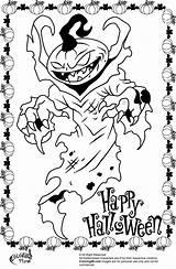 Halloween Scary Coloring Pages Monster Pumpkin Printable Creepy Drawing Pumpkins Clown Colouring Print Icp Adult Cute Designs Happy Printables Getdrawings sketch template