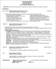 laboratory information system resume sle technologist resume 8 exles in word pdf