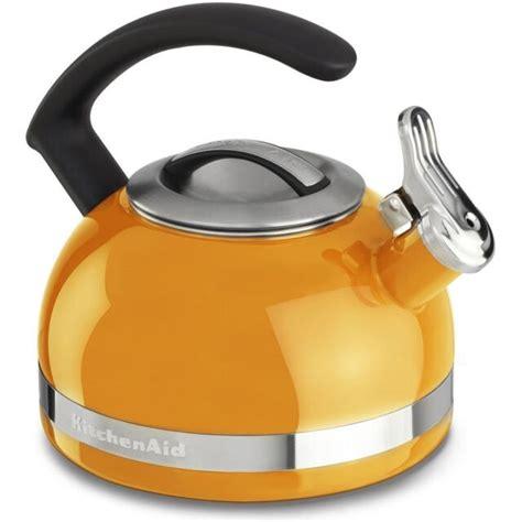 kettle kitchenaid stove quart handle mandarin trim band orange