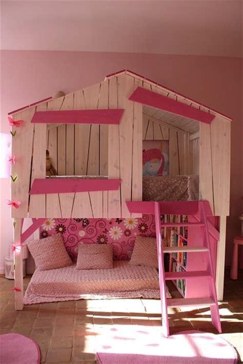 un lit cabane pour les filles chambre d 39 enfant