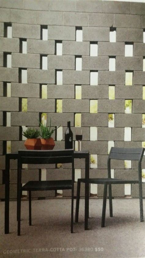 decorating ideas for cinder block walls best 25 block wall ideas on timber screens