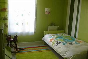 chambre enfant vert et gris With chambre grise et verte