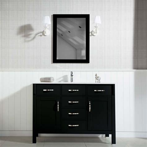 woodbridge 56 inch black bathroom cabinet