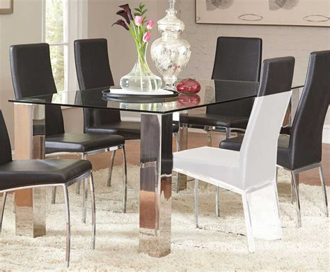 Coaster Bellini Rectangular Glass Dining Table