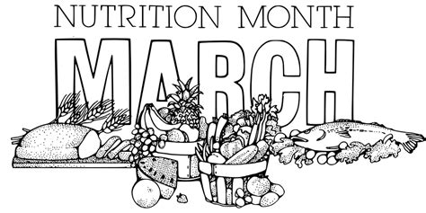 vector graphic nutrition month march food