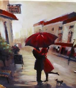 Red umbrella painting artsy fartsy Pinterest