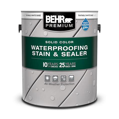 solid color waterproofing wood stain sealer behr