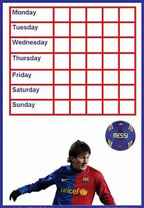 Free Weekly Chore Chart Template Messi Reward Charts
