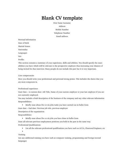 blank resume template pdf resume ideas