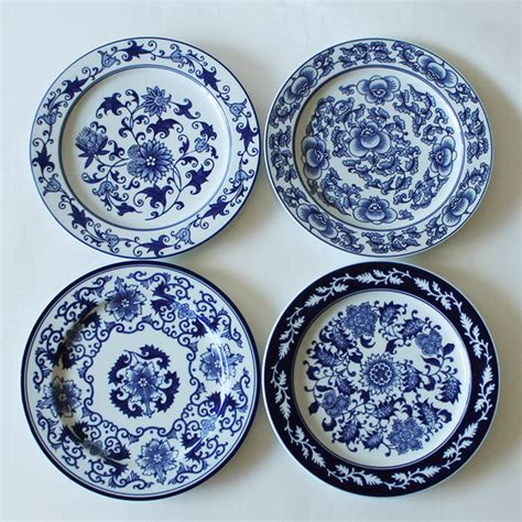 3758 ceramic wall plates 1 antique porcelain blue and white