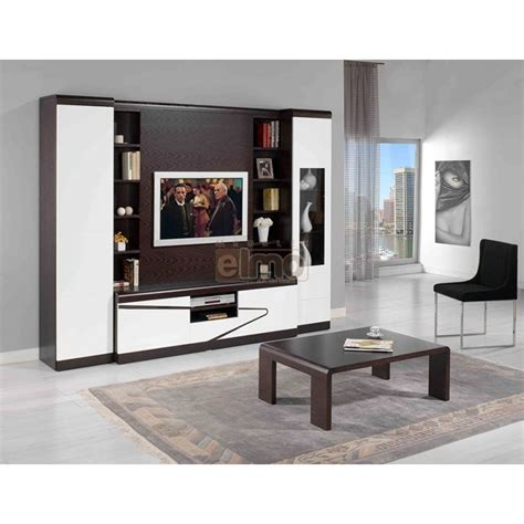 cuisine et salon dans la meme living meuble tv wenge laque aquin meubles elmo