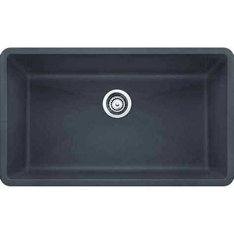 granite single bowl kitchen sink blanco precis undermount granite composite 32 in 6892