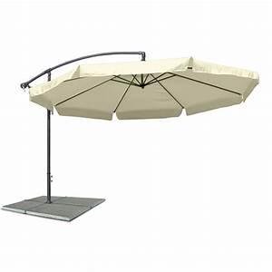 Sonnenschirm 4m Mit Kurbel : ampelschirm sonnenschirm mit 300 cm durchmesser in beige material polyester 160g ~ Eleganceandgraceweddings.com Haus und Dekorationen