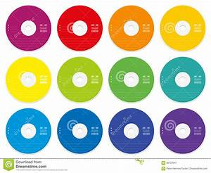 cd labels colored template stock vector image of movie With blank cd label stickers