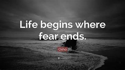 Fear Begins Ends Where Osho Quote Wallpapers