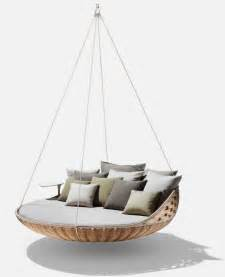 Hanging swing lounge completing your chic life interior fans