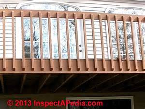 deck guardrail or stair railing baluster installation