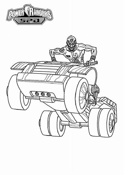 Power Rangers Coloring Pages Children Simple