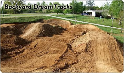 Dirt Bike Track In Backyard