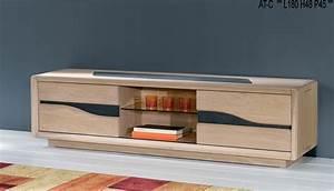Meuble Tv Chene Massif Moderne : meuble tv design contemporain ce820n ~ Teatrodelosmanantiales.com Idées de Décoration