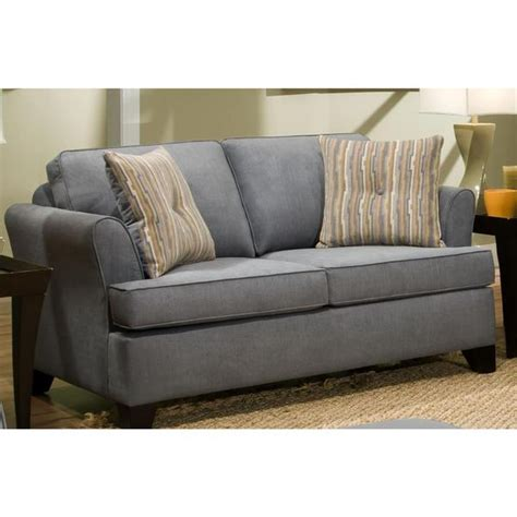 Hide A Bed Loveseat by Shop Made To Order Simmons Upholstery Diver Blue Hide