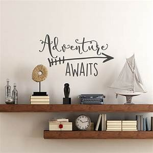 Travel, Theme, Adventure, Awaits, Vinyl, Wall, Decal, Home, Decoration, Quotes, Kids, Bedroom, Decor, Wall