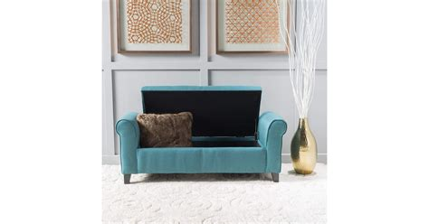 Living Spaces Storage Bench by Christopher Home Living Darrington Storage Bench