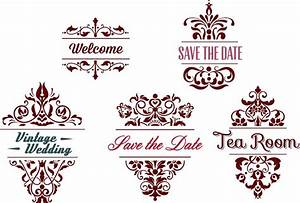 ornamental wedding frames vector free download With classic decorative wedding invitations vector