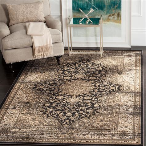 black and ivory area rugs safavieh vintage black ivory 4 ft x 5 ft 7 in area rug 7836