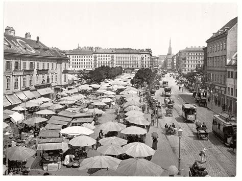 Historic B&w Photos Of Vienna, Austrohungary (19th