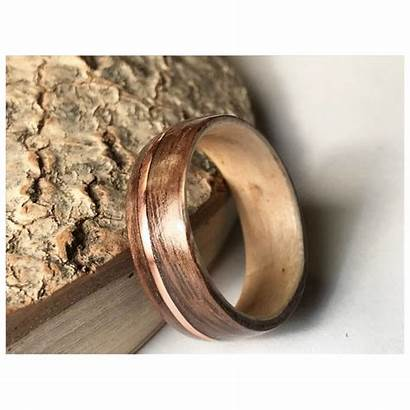 Ring Rings Engagement Filled Wood Band Schaum