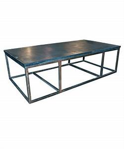 Stone coffee table with metal living room ideas pinterest for Metal and stone coffee table