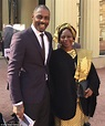 Idris Elba beams as he poses with his mother after OBE ...