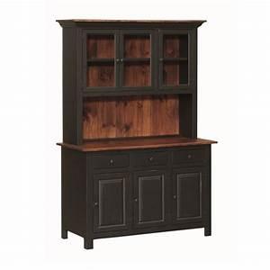 Pine 3 Door Open Hutch Amish Pine 3 Door Open Hutch