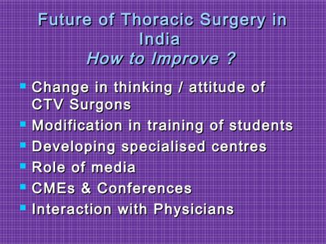 Thoracic Surgery In India Past,present & Future