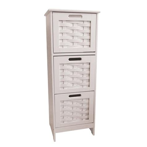 Slim Bathroom Drawers by Slim White Weave 3 Drawer Storage Unit At Home