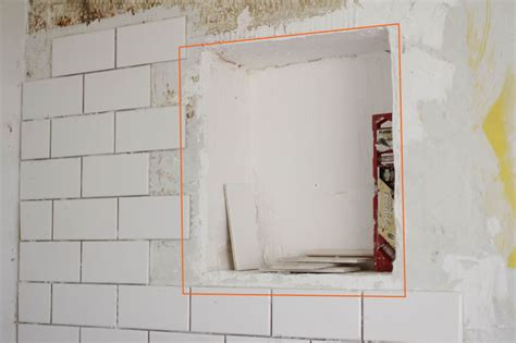 building a shower niche diy renovation project how to build a recessed shower