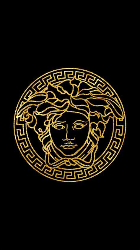 versace logo black   tdotwallpapers  deviantart