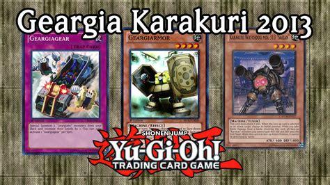 Yugioh Geargia Deck October 2014 by Geargia Karakuri 2014 Banlist Yu Gi Oh Deck Profile