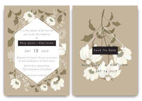 wedding invitations save  date card design  elegant