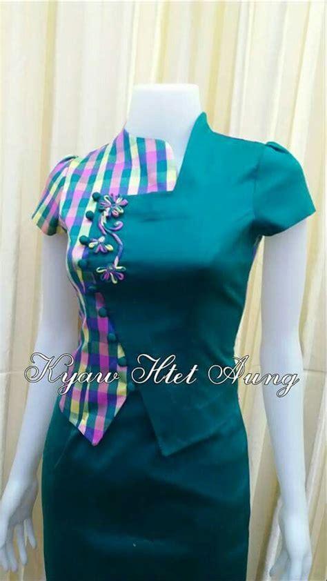 pin  zinlynn  myanmar fashion dresses designer