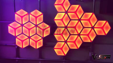led wall panel with dmx 512 controller 3d led wall panel youtube