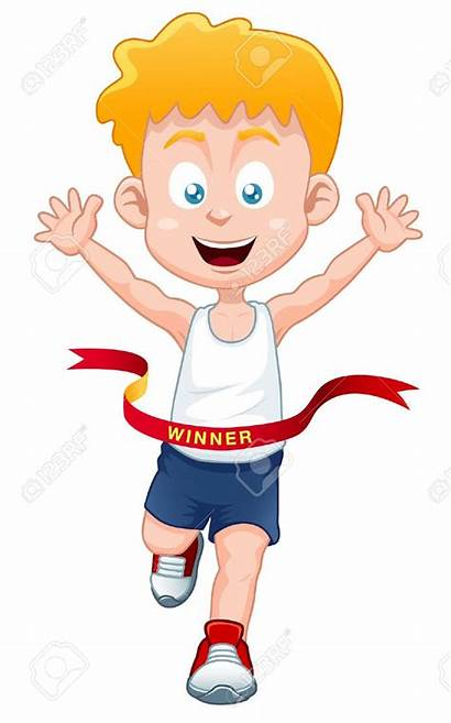 Boy Winner Coaching Athletics Clipart Jock Cartoon