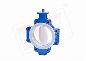 Lined Butterfly Valve Fully Lined With Fluorine Like Ptfe