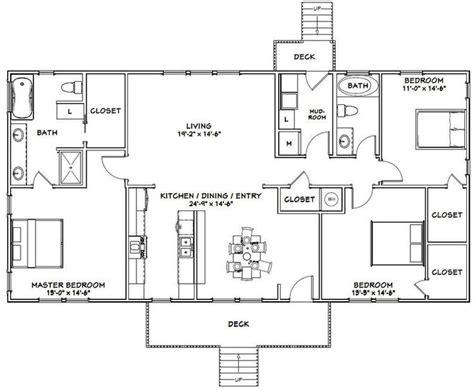 house  bedroom  bath  sq ft  floor etsy metal house plans rectangle house