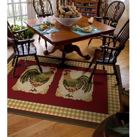 country kitchen rugs orian country rooster rug walmart 3624