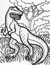 Coloring Dinosaur Dinosaurs Printable sketch template