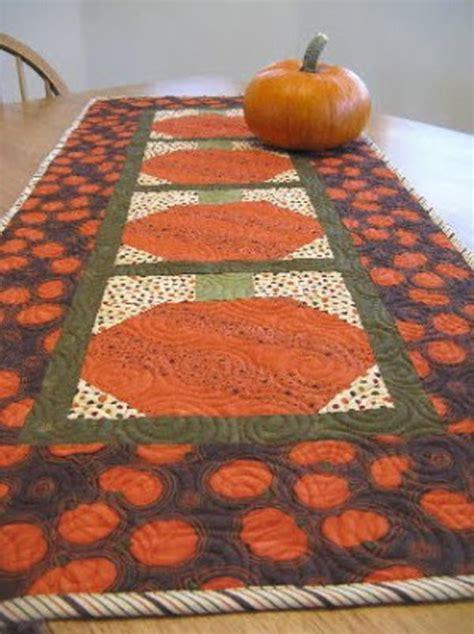 Pumpkin Table Runner   FaveQuilts.com