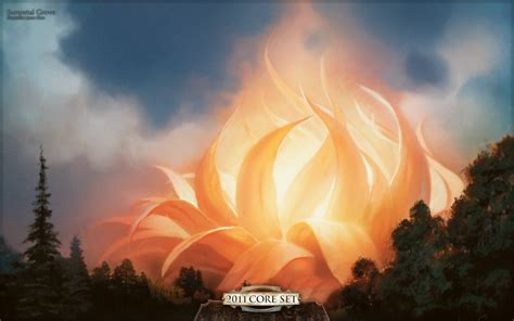Wallpaper of the Week: Sunpetal Grove | MAGIC: THE GATHERING