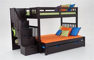Keystone Stairway Twin/Full Bunk Bed With Perfection